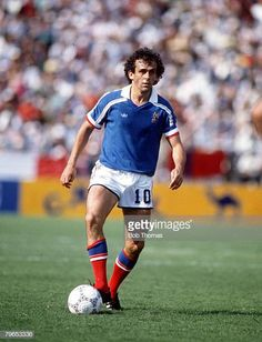 World Cup Finals Leon Mexico 1st June France 1 v Canada 0 France's Michel Platini