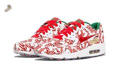 cheaper bd1b6 f18d8 Nike Women s Wmns Air Max 90 QS, CHRISTMAS SHOES, SNEAKERS Red, Green  (813150-101) (6.5, WHITE UNIVERSITY RED-MTLLC GLD) - Nike sneakers for women  ( Amazon ...