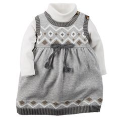 Baby Girl 2-Piece Sweater Dress Set   Carters.com