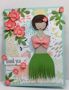 Stampin' Up! Card by Stamp With Cynthia: Thankful Thursday - Sweetie Pie Goes Hawaiian