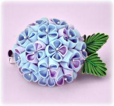 Sweet Hydrangea Japanese Kanzashi Flower Hair Clip