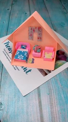 Diy Crafts Hacks, Diy Crafts For Gifts, Creative Crafts, Fun Crafts, Diy Projects, Upcycled Crafts, Paper Crafts Origami, Paper Crafts For Kids, Diy Paper