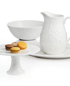 Lenox Serveware, Opal Innocence Carved Collection | macys.com