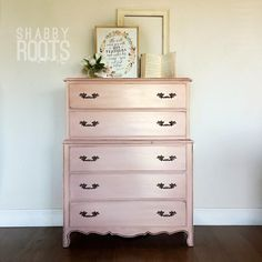 NEW! Baby pink small french provincial tall dresser- shabby chic, whimsical , beautifu. Girls room nursery dresser- San Francisco Bay Area by ShabbyRootsBoutique on Etsy https://www.etsy.com/listing/511590677/new-baby-pink-small-french-provincial