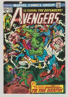 Avengers Vol 1 118 Bronze Age Comic Book. by RubbersuitStudios #avengers #defenders #comicbooks #etsy