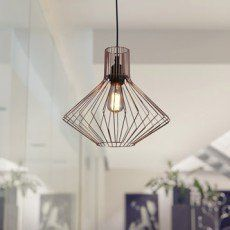 Suspension design crystal m tal noir 1 x 60 w mathias - Suspension luminaire leroy merlin ...