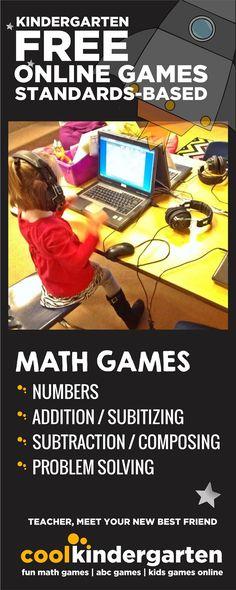 Cool math games for kindergarten - free online
