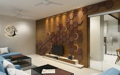 A Strong character – Pavan Infratech Tv Unit Design, Tv Wall Design, House Design, Living Room Wall Designs, Living Room Bar, Modern Interior, Home Interior Design, Lcd Units, Exterior Wall Design