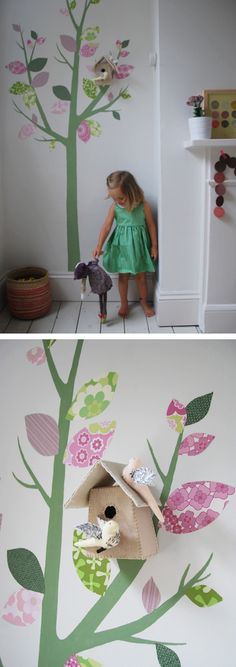 ivy painted walls | Kid's Room « Babyccino Kids: Daily tips, Children's products, Craft ...