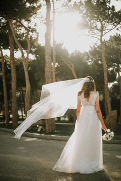 7 Breathtaking Wedding Portraits Woman In White Bridal Gown Standing On Gray Concrete Wedding Present Ideas, Wedding Gifts For Parents, Wedding Gifts For Groomsmen, Bride And Groom Gifts, Wedding Gifts For Bride, Groom And Groomsmen, Wedding Groom, Bouquet Wedding, Wedding Nails