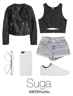 """""""Getting his attention at a Concert"""" by btsoutfits ❤ liked on Polyvore featuring NIKE, H&M, Levi's and Wildfox"""
