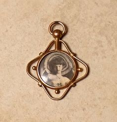Vintage 1930s Art Deco Gold Filled French Photograph Locket by JessaBellas on Etsy