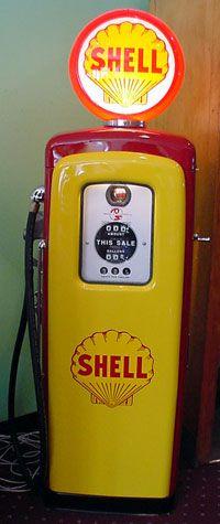 Shell Gas Pump   GO WELL GO SHELL.
