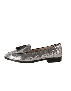Glitter Loafers silver | Clouds of Fashion