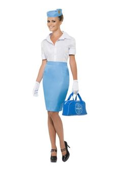 Women's Pan Am Flight Attendant Costume