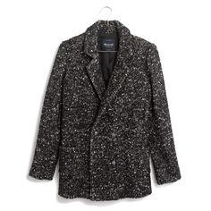 Madewell Tweed coat, $225