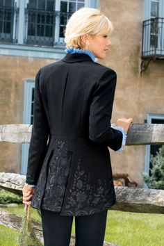 Label Noir Soignee Jacket - Womens Black Blazer, Blazer Jacket, Equestrian Style Jacket | Soft Surroundings