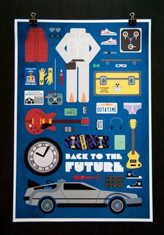 Back to the Future  Movie Parts Poster by EmmaButlerDesign on Etsy
