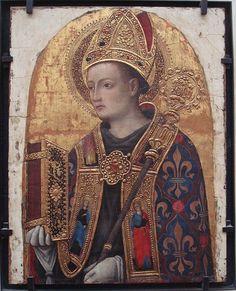 ANTONIO VIVARINI RETRATO DE SAN LUIS DE TOULOUSE 1450