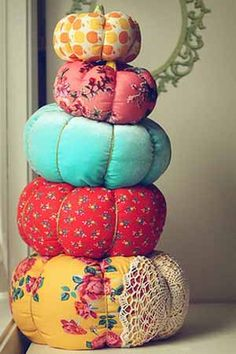 These would add so much color. Use fabric that you are called to and create a great Mabon tablescape