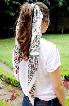 Las mejores ideas de peinados para llevar con pañuelo #handkerchief #hairstyle #peinados #pañuelo