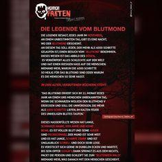 Die Legende vom Blutmond - Urban Legends #horror #horrorfakten #fakten