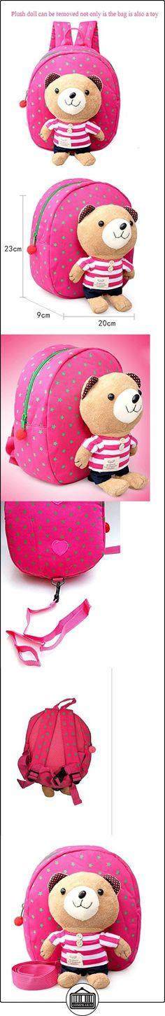 Niños arnés de seguridad correa de mochila infantil, Walker-Andador Bebé Bolsa con desmontable de peluche oso riendas rosa rosa Talla:20 x 23 x 9 cm  ✿ Seguridad para tu bebé - (Protege a tus hijos) ✿ ▬► Ver oferta: http://comprar.io/goto/B01M1DFTWF