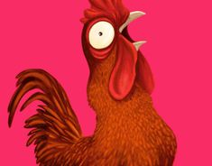 Rooster illustration, I always wanted to illustrate some animals sounds - onomatopoeia so here is my first attempt for the Portuguese rooster. Rooster Illustration, New Work, Tigger, Character Design, Behance, Disney Characters, Gallery, Check, Animals