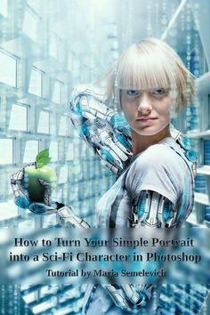 Membuat Efek Futuristik dengan Portraits di Photoshop