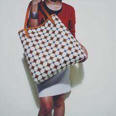 Utari Tote Bag with Kawung Batik combination. #djokdjabatik