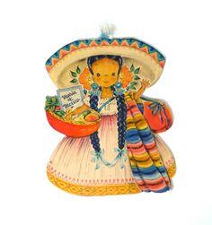 Hallmark Dolls of the Nations Maria of Mexico 1940s. $8.00, via Etsy.