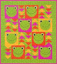 Flying Frogs Quilt.  This would be cute for quilts to share
