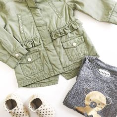 Our favourite Spring essentials for babe 🌿 -- shop this entire look online at shopnevergrowup.com 🐻#NGUstyle #springstyle #newarrivals