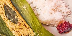 Pepes Tahu Bungkus Daun Pisang  Menu masakan tradisional ini mudah dibuat Food N, Food And Drink, Food Dishes, Side Dishes, Indonesian Cuisine, Indonesian Recipes, Tofu, Asparagus, Zucchini