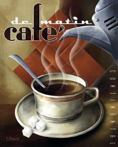 FRENCH COFFEE ART DECO CAFE POSTER.