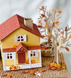 Farmhouse project using PTI Tiny town: Spookville + basic set - Fall scene (Betsy Veldman)