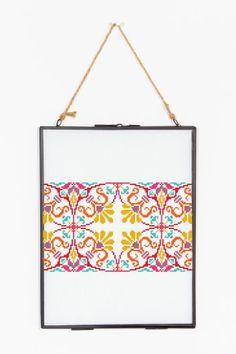 Summer kaleidoscope pattern