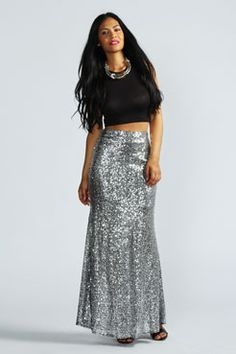 Madeline All Over Sequin Maxi Skirt at boohoo.com