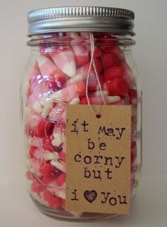 adorable Valentine candy corn mason jar gift :: {create this} at shaken together.I need this from my hubby! I LOVE candy corn! Homemade Valentines, Valentine Day Love, Valentine Day Crafts, Valentine Ideas, Funny Valentine, Valentines Recipes, Valentine Desserts, Printable Valentine, Ideas