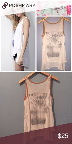 """Free people top We the free """"California people"""" Tank. Super soft and never worn Free People Tops Tank Tops"""
