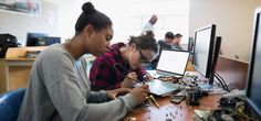 Only 18 percent of computer science graduates are women. Melinda Gates highlights four students who are defying the odds. Steam Education, Computer Science, Good To Know, Bff, Teacher, Hero, Goals, School, Image