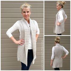 1cef7155ab74b8 Vest Crochet Pattern Long Style with Shawl Collar No.935 Digital ePattern  Instant Download PDF DIY English
