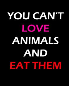 Don't call yourself an animal lover if you kill them for the sake of your own taste buds. You don't need meat to live.