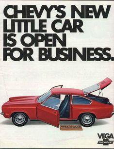 First car- 1976 Red Chevy Vega Hatchback 4 Speed