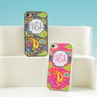 Paisley Print Personalized iPhone Case. I love this pattern its so cute. Im getting these for my bridesmaids.