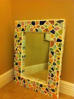 mosaics mirror frame  great gift diy