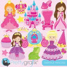 Fairytale princess clipart for scrapbooking by Prettygrafikdesign