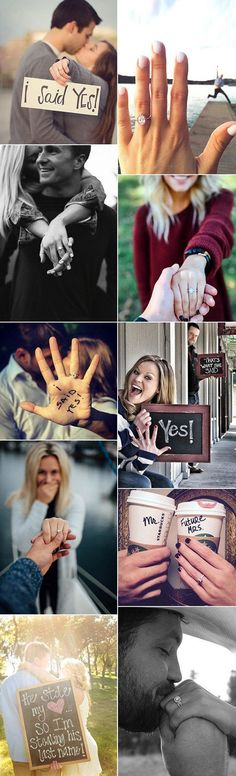 best wedding engagement announcement photo ideas