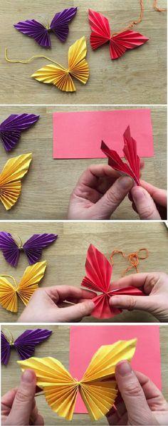 blumen basteln mit kindern aus papier tinker flowers with children out of paper Kids Crafts, Easy Paper Crafts, Creative Crafts, Diy Paper, Paper Crafting, Diy And Crafts, Origami Diy, Origami Design, Origami Tutorial