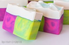 Clouds n' Rainbows Handmade Soap Coconut by XplosiveCosmetiX